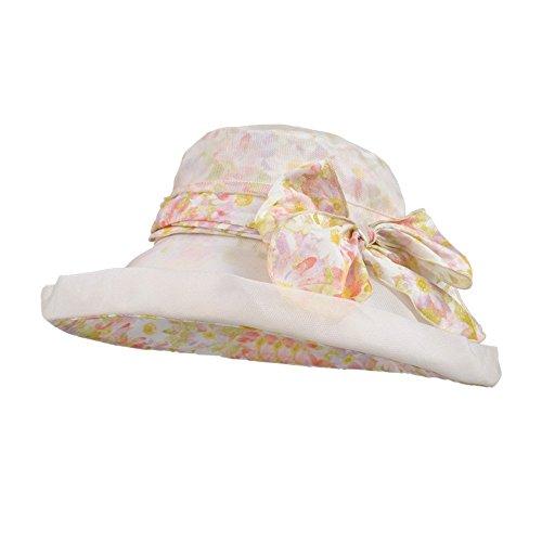 Kenmont femmes dame été en plein air protection UV seau chapeau de bouchon vacances à la plage Beige