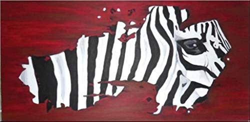 Unikat Exklusive-ART Malerei Bild handmade abstrakt öl original painting acryl modern XXL Titel: Zebra (60 cm x 120 cm)
