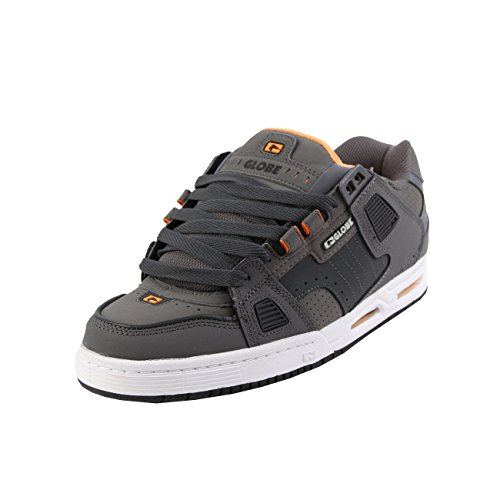 Globe Sabre, Chaussures de Skateboard homme Shadow / Pewter / Orange