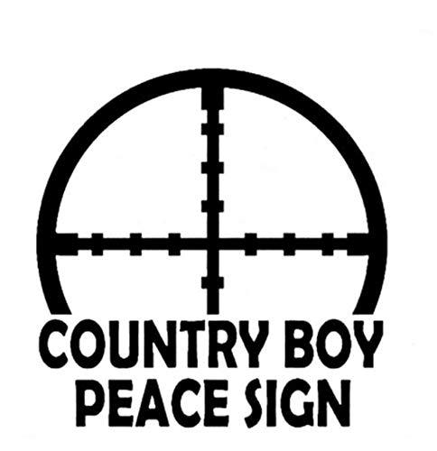 Autoaufkleber 12,7 CM * 12,7 CM Country Boy Friedenszeichen Vinyl Aufkleber Auto Boot Lkw Prinzessin Dekorative Auto Aufkleber 2 Stück (Friedenszeichen-autoaufkleber)