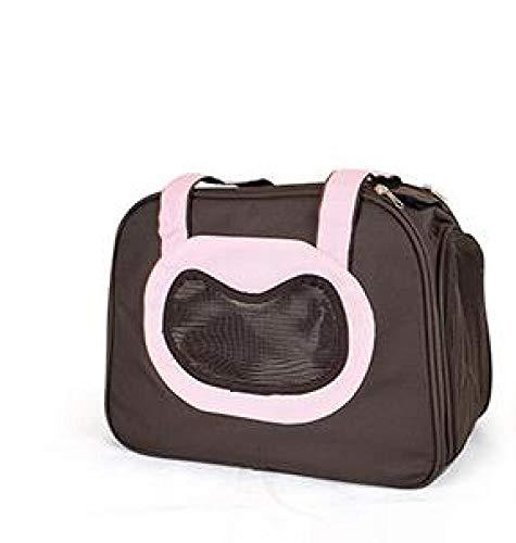 FZKJJXJL Pet Luxury Soft-Sided Cat Carrier Tragbare Hundehütte Für Katzen Kleine Hunde Und Welpen,Pink -