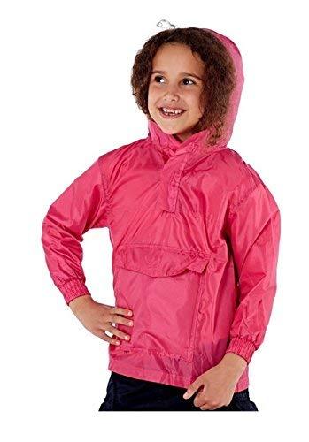 Pro Climate Kinder Jungen Mädchen Hell Regenjacke Mantel mit Kapuze Pac Auswärts Wasserabweisend Mac Sommer - Rosa, 122-128