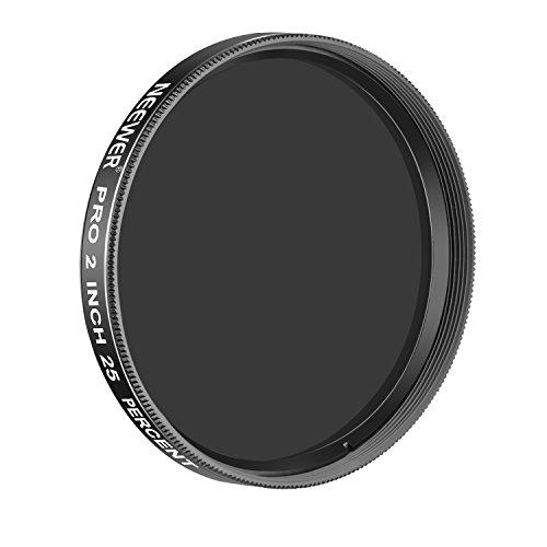 Neewer Pro 2 Zoll 25 Prozent Transmission Neutral Dichte Mondfilter, Aluminiumrahmen Optisches Glas Teleskop Okularfilter helfen allgemeine Helligkeit und Strahlung zu reduzieren (schwarz)