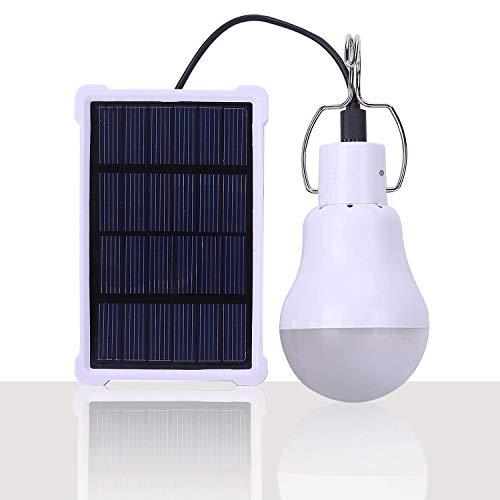 IVYSHION Campinglampe Solarleuchten Lampe LED Solar Glühbirne Solarlampen tragbare Lämpchen Licht Birne für außen Innen Garten Camping Wandern Lesen Zelt Angeln Beleuchtung (S-1500)