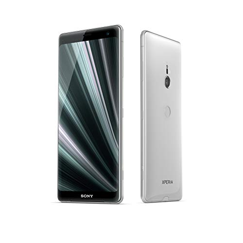 "Sony Xperia XZ3 - Smartphone de 6"" QHD+ HDR 18:9 OLED (Snapdragon 845, 4 GB de RAM , memoria interna de 64 GB, cámara de 19 MP, Android), color plata + Micro SD Sony de 64 GBs [Exclusivo Amazon]"