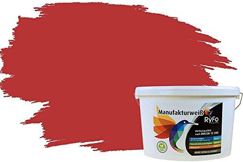 RyFo Colors Bunte Wandfarbe Manufakturweiß Cremerot 10l - weitere Rot Farbtöne und Größen erhältlich, Deckkraft Klasse 1, Nassabrieb Klasse 1