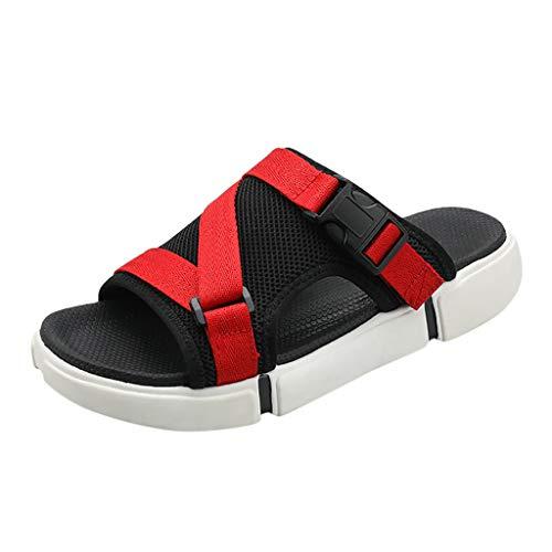 ODRD [EU35-EU49] Schuhe Shoes Sommer Herren Wohnungen Plattform Rutschfeste Rutschfeste Sandale Strand lässig Schuh Hausschuhe Sneaker Wanderstiefel Combat Hallenschuhe Worker Sports - Frauen-plattform Sandalen Qupid Für