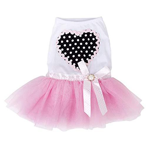 Luckiests Lace Flowy Bowtie Haustier-Kleid-Welpen-Kleidung-Sommer-Sleeveless Tutu-Kleid