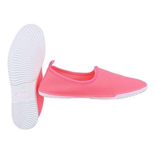 Slipper Damenschuhe Low-Top Slipper Ital-Design Halbschuhe Rosa