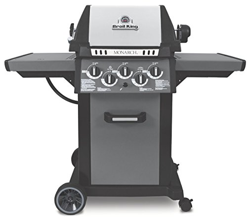 Broil King Gasgrill Monarch 390 silber Uni-Cast™ Aluminiumgussgehäuse mit Edelstahl Deckel-Inlay Monarch™