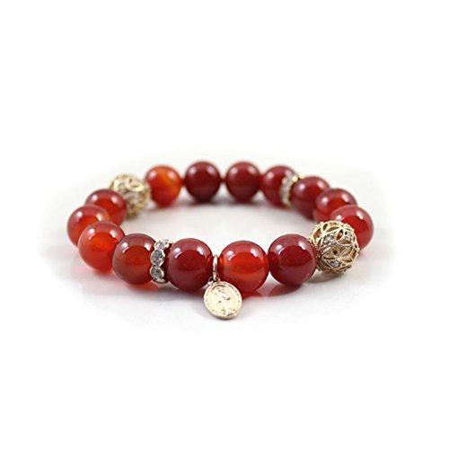 gioielli di moda in Europa e America/China National vento a braccialetto perline agata in rilievo-A