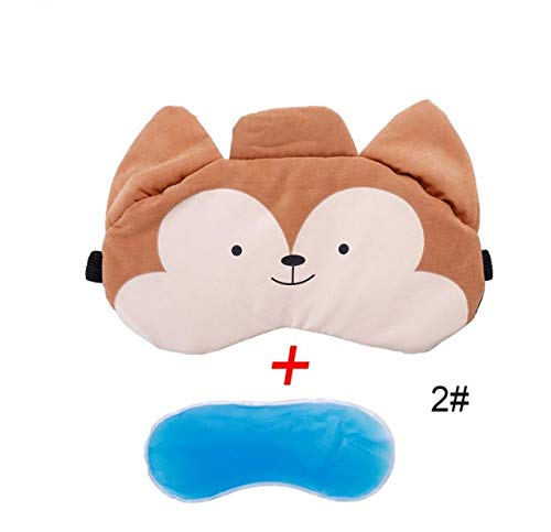 Cute Eyeshade Cold Cooling Gel Ice Eye Care Mask Padded Shade Cover Stress Relaxing Relief Sleeping Blindfold B - Schlaf Stress Relief