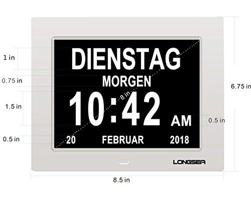 Calendario Digitale Per Anziani.Scheda Orologio Tavolo Calendario Digital Clock