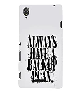 EPICCASE Plan B Mobile Back Case Cover For Sony Xperia T3 (Designer Case)