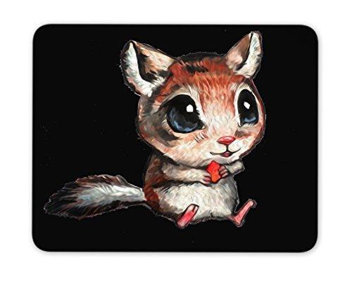 Wild Big Eyes Eichhörnchen Maus Pad, US Flaggen Maus Pad, Maus Pad, Qualität Creative wrist-protected Armbänder Personalisierte Schreibtisch, Maus Pad (24,1x 20,1cm)