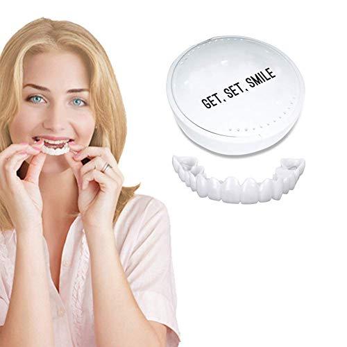 YTWD Furnier Zähne Zahnmedizin Snap Die Sofort EIN Komfortables Und Flexibles Make-Up-Furnier-Gebiss Mit Natürlichem Lächeln Für Die Mundpflege Aufhellen -