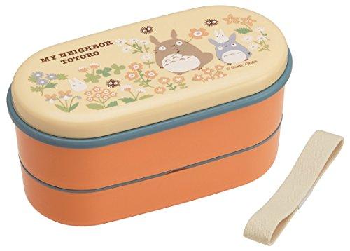 Bento: Studio Ghibli Totoro Motiv 2Für Mikrowelle BPA frei Box Mittagessen (Inhalt: 380ml + 250ml) Bento Box Mit Zwei Ebenen