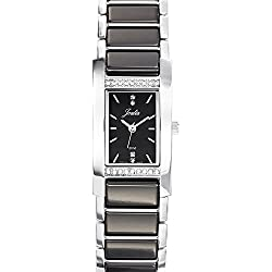 Joalia Women's Analogue Watch with Black Dial Analogue Display and Stainless steel plated Bicolour - 631133
