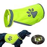 Doggie Style Store Yellow Hi-Vis Hi Visibility Fluorescent Dog Pet Puppy Safety Vest Top Reflective Vis Night Jacket Coat Size L