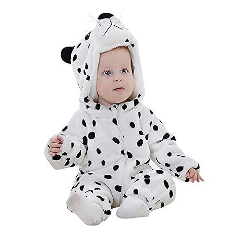 Famille Combinaison pour Tout-Petit, Robes pour Bébés en Hiver Vêtements (12-24 Mois, Blanc)