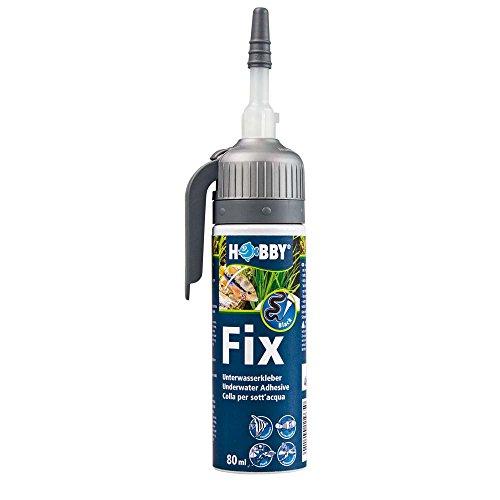Hobby 11967 Fix Unterwasserkleber, 80 ml, schwarz, Kartusche
