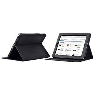 TeckNet® iPad 2 Multi-Function Premium Folio Case / Cover / Stand / Flip Case For New Apple iPad 2, With Magnetic Sleep Wake Sensor Feature - Black
