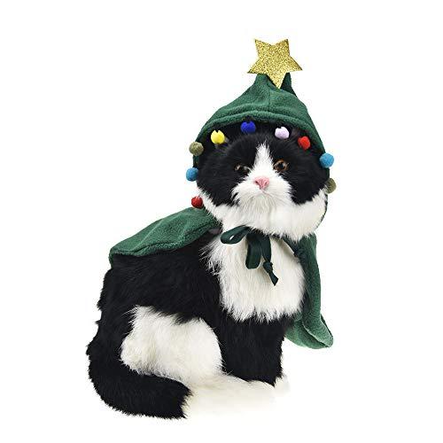 FLAdorepet Weihnachtsbaum-Elfenkostüm für Hunde und Katzen, Fleece, ()