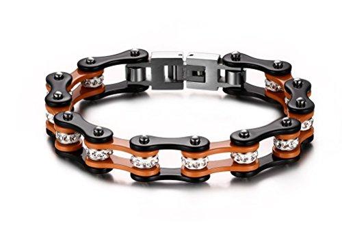 vnox-bracciale-a-catena-pesante-acciaio-uomo-bike-gioielli-per-gli-uominiarancio-e-nero