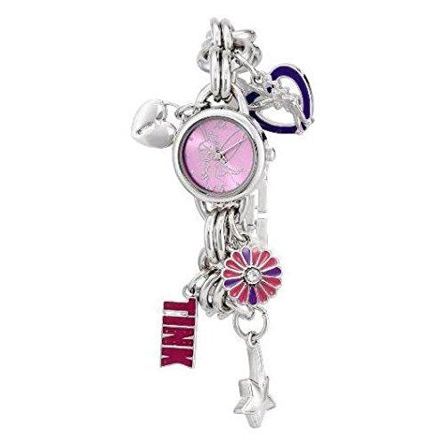 disney-womens-tk2022-tinkerbell-pink-sunray-dial-charm-bracelet-watch