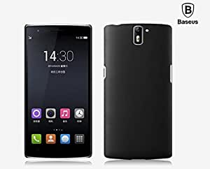 Baseus Premium Rubberized Hard Back Cover / Case for OnePlus One, its cool like mango, Jet Black