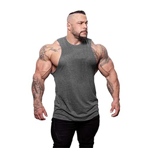 Committede Herren Fitness Muskel Gym saugfähige Weste Bodybuilding Lift Stringer,Gym Fitness - Funktionelle Sport Bekleidung - Geeignet Für Workout, Training - Tank Top -