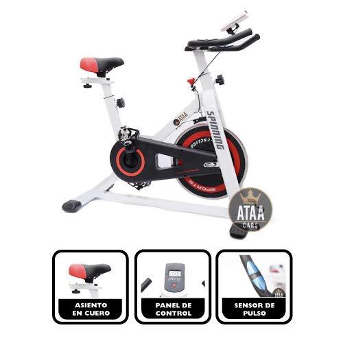 ATAA Bici Spinning - Bicicleta estática fitness pantalla