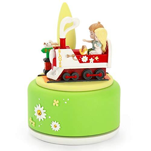 ZJ- à musique Boîte à Musique boîte à Musique Filles, Enfants, Anniversaire, Cadeau de Noël Train du Bonheur