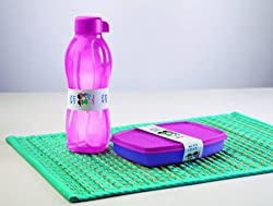 Tupperware Classic Slim Lunch and 1 Aquasafe Water Bottle 500ml (2.00)
