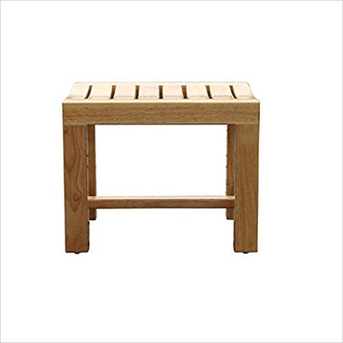 Uus Duschhocker/Badewannenhocker Duschhocker aus Holz Schwanger/Senioren / Handicap Rutschfest Heavy Duty Duschsitz Dusche/Bad Holz Schuhhocker Schemel (größe : #1)