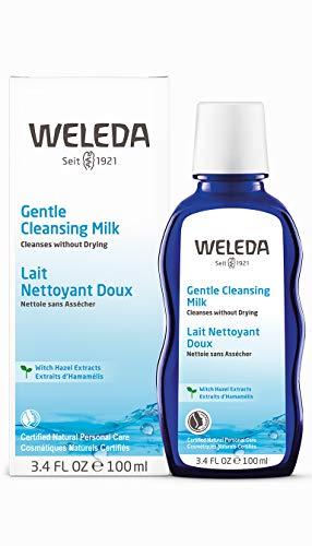 WELEDA Milde Reinigungsmilch, porentiefe Naturkosmetik Gesichtsreinigung für trockene und normale Haut im Gesicht und am Hals, sanfte Reinigung ohne Austrocknen (1 x 100 ml) - Weleda Gesichtswasser