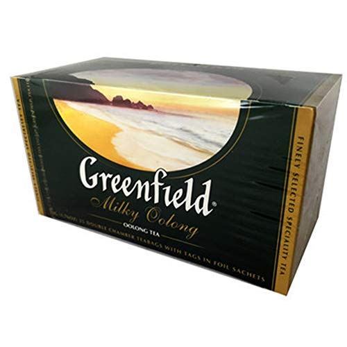 Greenfield China Milky Oolong Tea 3er Pack (3 x 25 Teebeutel) chinesischer Milch Tee
