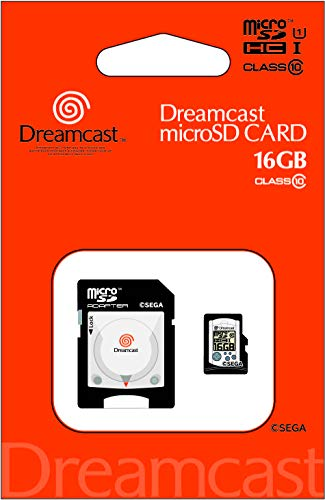 Micro SDHC card ''Dreamcast'' 16gb (SD adapter included) [Japan Import] (Sd Micro 16gb)
