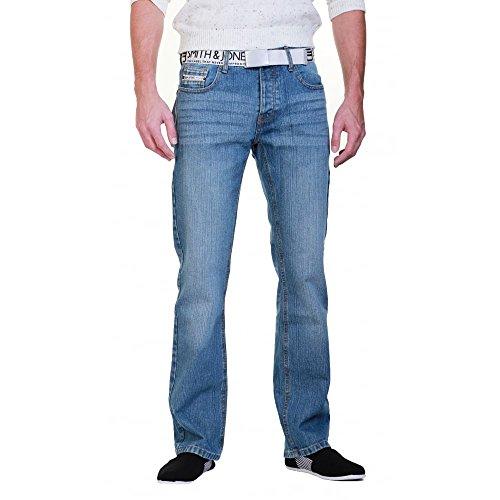 Smith & Jones Regarder Mens Enrico Bootcut Jambe Jeans Nouvelle Lumière Utilisés Smith & Jones