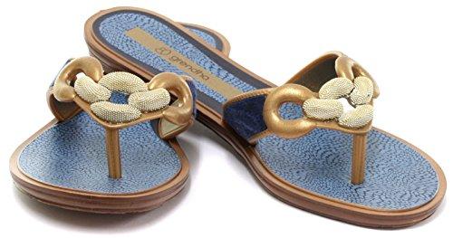 Grendha Exotic Thong Frauen Flip-Flops / Sandalen Blue
