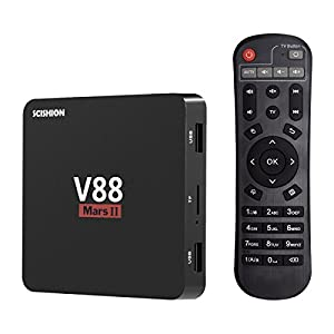 V88 MarsⅡ Android 6.0 TV BOX, 2GB RAM 16GB ROM Quad Core Rockchip RK3229 smart tv box 2.4G Wifi HDMI 4K H.265