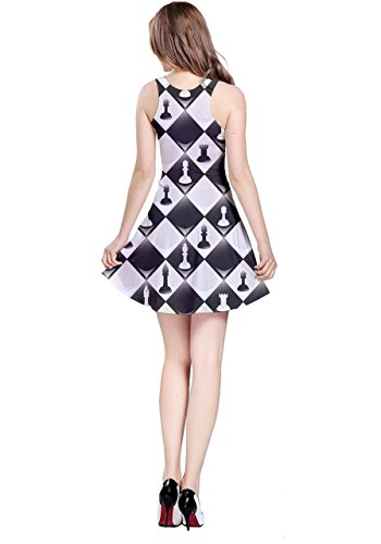 CowCow - Robe - Femme Colorful Chevron Black Chessboard