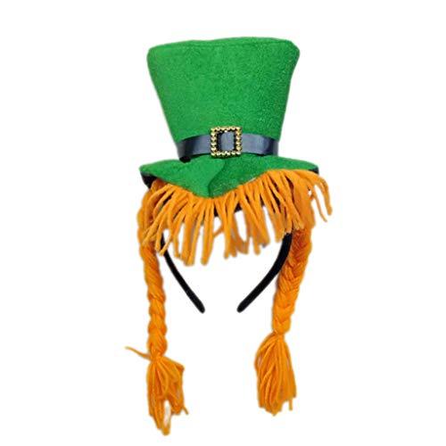 XuxMim St. Patricks Day Costume Green Leprechaun Zylinder und Bart