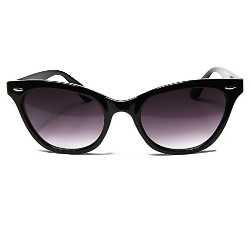 KISS Gafas de sol CAT EYE mod. PIN-UP - cult vintage MUJER de moda rockabilly NIKITA - NEGRO