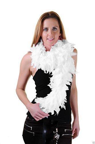 Neu Damen 150CM Hohe Qualität Federboa 20er Flapper Junggesellinnenabschied Kostüm Dress50gm - Weiß, Einheitsgröße