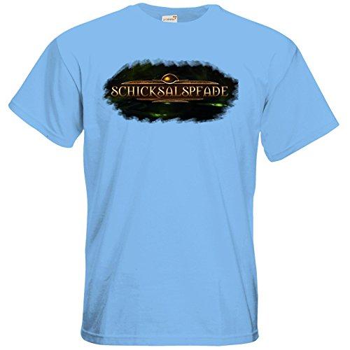 getshirts - Das Schwarze Auge - T-Shirt - Logos - Schicksalspfade Sky Blue
