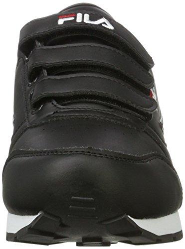 Fila Men Base Orbit Velcro Low, chaussons d'intérieur homme Schwarz (Black)