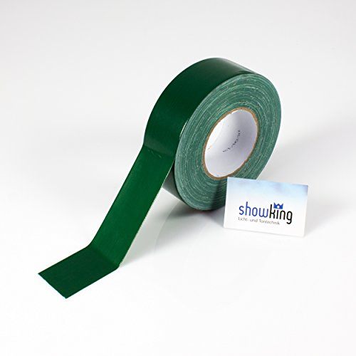 Gaffa Tape grün, 50m x 50mm - Gewebeklebeband / Gaffer Klebeband - showking