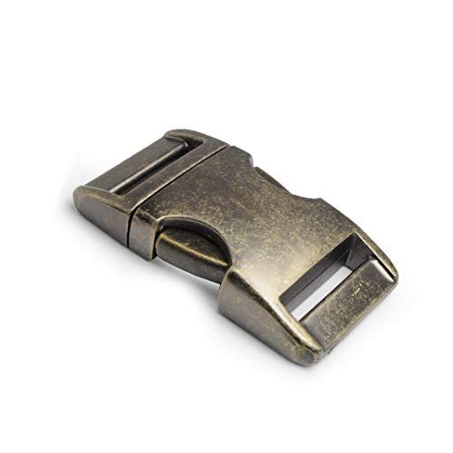 Metall-Klickverschluss Alumaxx, 2er Set, 3/4