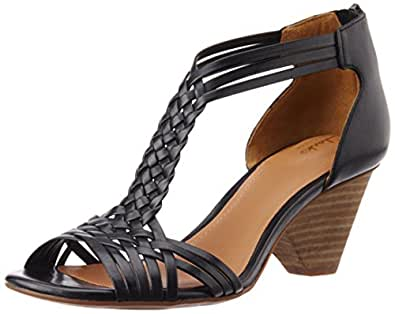 Clarks Women's Ranae Monique Black Leather Fashion Sandals - 4 UK